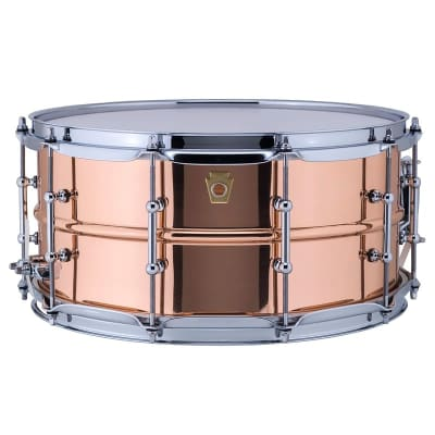 """Ludwig 6.5"""" x 14"""" Copperphonic Smooth Shell Snare Drum with Tube Lugs - LC662T"""