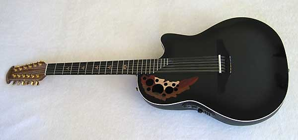 Miniature Guitar Melissa Etheridge Ovation black