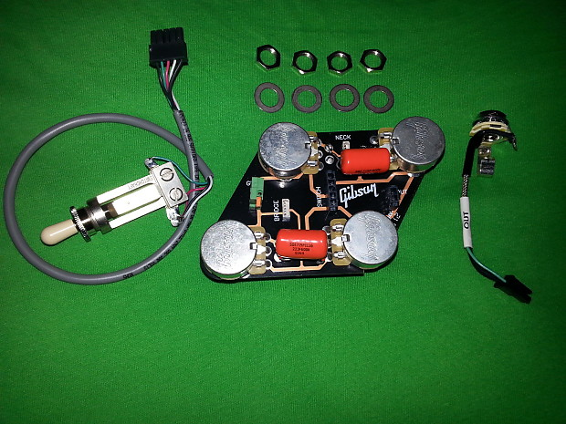 gibson les paul wiring harness toggle input jack 022 reverb. Black Bedroom Furniture Sets. Home Design Ideas