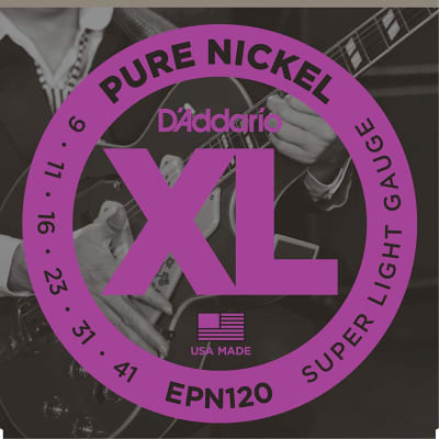 D'Addario EPN120 Pure Nickel Super Light Strings