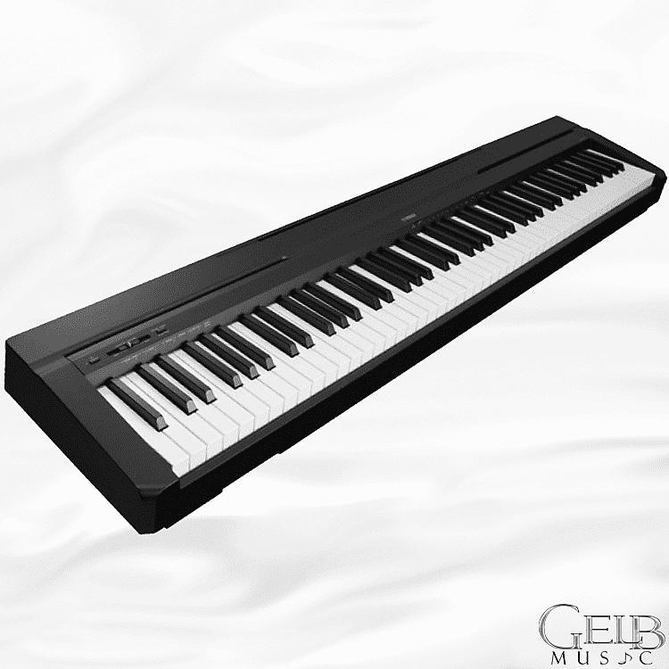 yamaha p45b entry level 88 key black digital piano in black reverb. Black Bedroom Furniture Sets. Home Design Ideas
