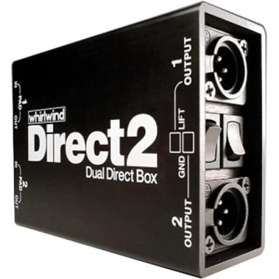 Whirlwind DIRECT2 2-Channel Direct Box w/ Ground Lift