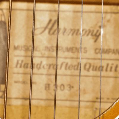 "Stella Harmony H303 Vintage Acoustic Guitar 33-3/4"" Long"