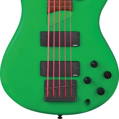 IBANEZ  K5LTD-FGM Fieldy Signature 5 String Flourescent Green Matte for sale
