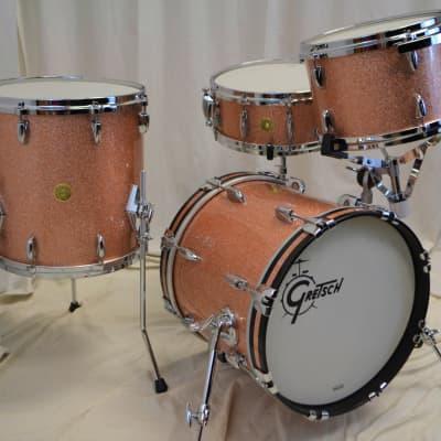 "Gretsch 16/12/14/5.5x14"" USA Custom Drum Set - Champagne Sparkle"
