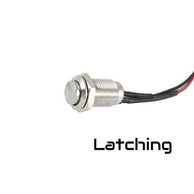 Tesi Switch  IDO SUPER M  10MM Latching Push Button Guitar Kill Switch Stainless Steel -NO DRILLING