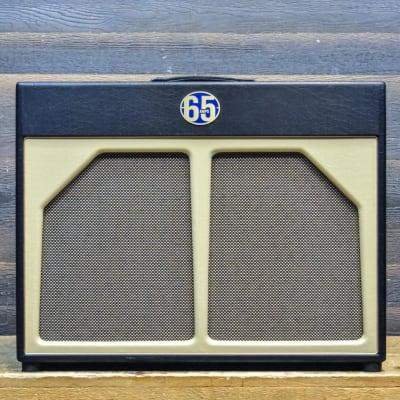 "65 Amps Blue Series 2x12"" Cabinet Celestion G12H/G12 Alnico Blue Guitar Cabinet"