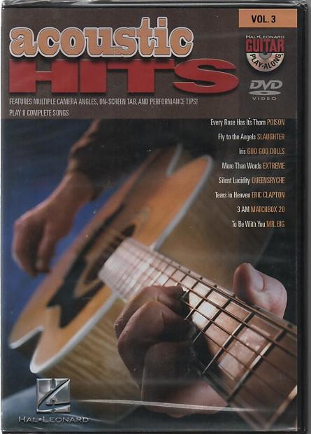 lesson dvd 39 s acoustic hits guitar play along dvd volume 3 reverb. Black Bedroom Furniture Sets. Home Design Ideas