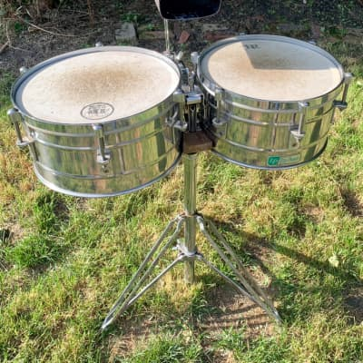 LP Tito Puente Timbales with stand and cowbell  1960s