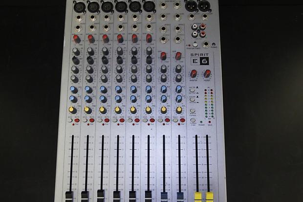Soundcraft Spirit E6 Analog Mixer | Sam Ash Carle Place