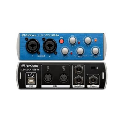 PreSonus AudioBox USB 96 USB Audio Interface - Blue