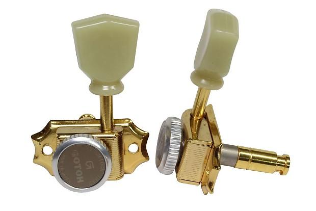 GOTOH SD90 Magnum Lock Traditional Locking 3 x 3 tuners Gold