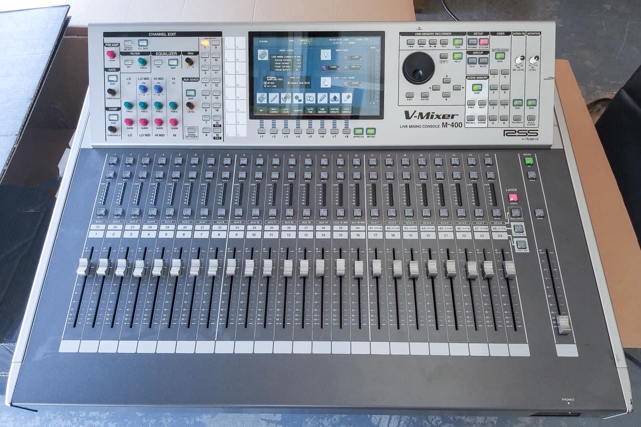 roland m 400 digital mixer console reverb. Black Bedroom Furniture Sets. Home Design Ideas