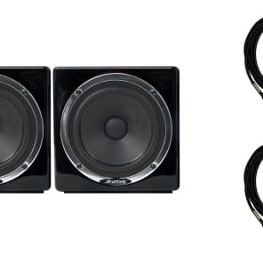 """Avantone Pro MixCubes Black Active Pair Bundle with Two Premium Mogami 1/4"""" TRS Cables"""