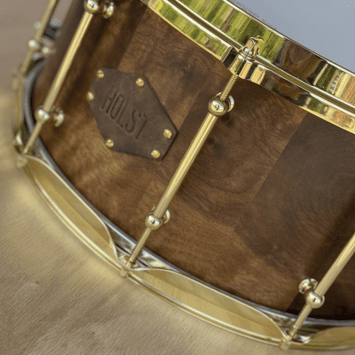 Holst Drumworks Custom Walnut 7x14 Snare Drum