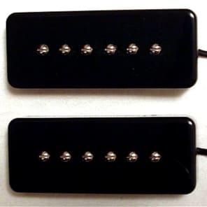 GuitarHeads SOAPBAR P90 Pickups - Bridge/Neck Set of 2 - BLACK