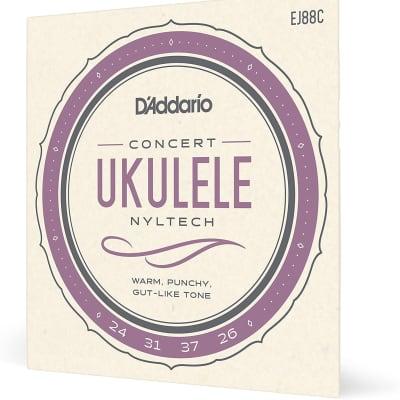 D'Addario EJ88C Nyltech Ukulele Strings Concert