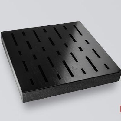 Decosorber Quad 8 - Acoustic Sound Absorber Panel (6 Pack) - Ebony