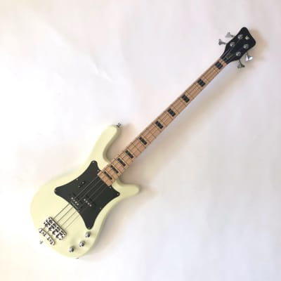 Warwick Rockbass Artist Line Adam Clayton 4-String Bass Cream White High Polish, Gigbag (DEMO) for sale