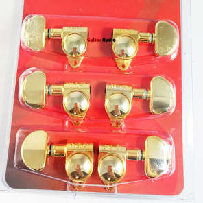 Grover 102G Original Rotomatic Guitar Machine Head Tuners, Set of 6 (3x3) GOLD for sale
