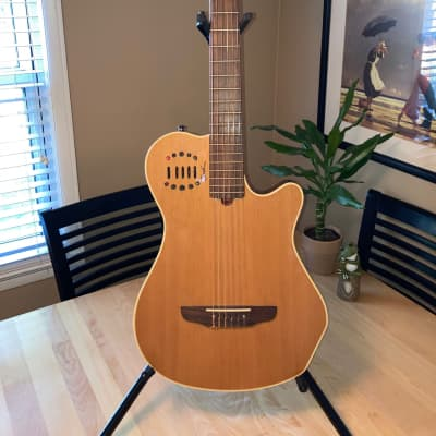 Godin Multiac Grand Concert Duet Ambiance Nylon with Electronics 2000's High Gloss Natural for sale