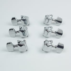 3L3R Covered Gear Guitar Tuning Keys Tuners Head Pegs ,Chrome
