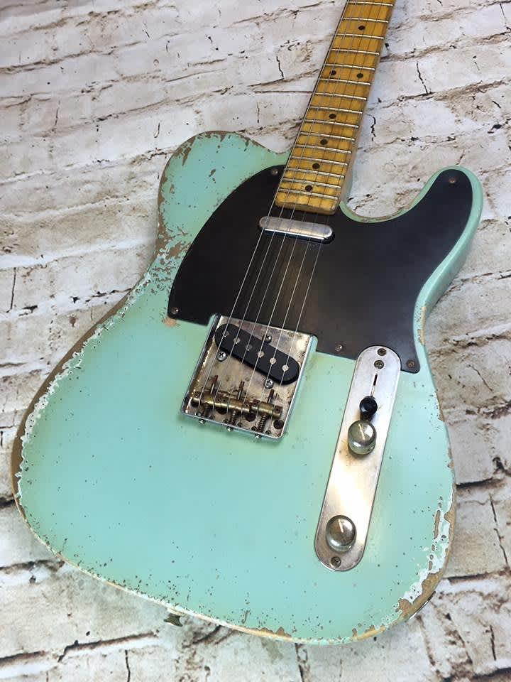 fraser guitars aged seafoam green 50s telecaster guitar reverb. Black Bedroom Furniture Sets. Home Design Ideas