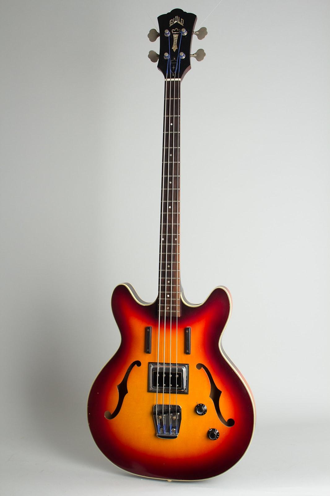 Guild  Starfire Bass Semi-Hollow Body Electric Bass Guitar (1965), ser. #BA-113, original black hard shell case.