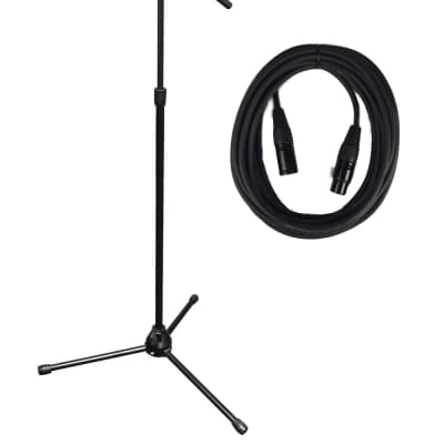 Vu MST100-PK1-K MST100 Bundle MS7701B Tripod Microphone Stand with (1) 20' Black  Microphone Cable