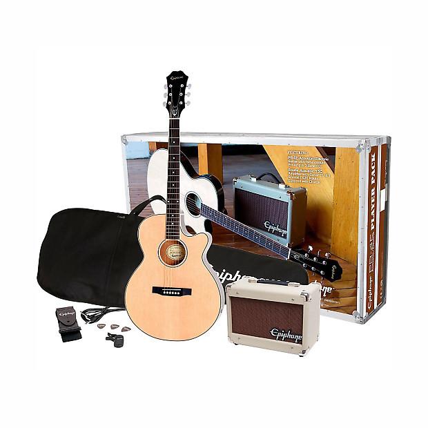 epiphone pack pr 4e player pack 1 acoustic electric natural reverb. Black Bedroom Furniture Sets. Home Design Ideas