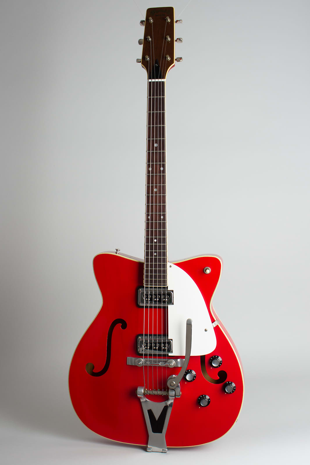 C. F. Martin  GT-75 Thinline Hollow Body Electric Guitar (1967), ser. #218537, original black hard shell case.