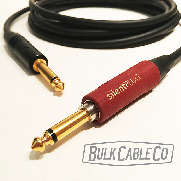 New Mogami Gold Instrument Silent S-10R 10 Ft Neutrik Silent Plug Right Cable