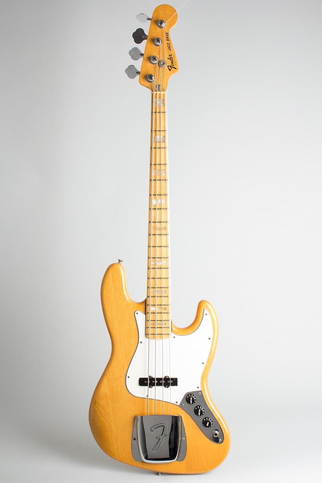 Fender  Jazz Bass Solid Body Electric Bass Guitar (1978), ser. #S7-37324, original black hard shell case.