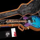 2018 Gibson ES-335 Block Memphis Figured Semi-Hollow ~ Blueberry