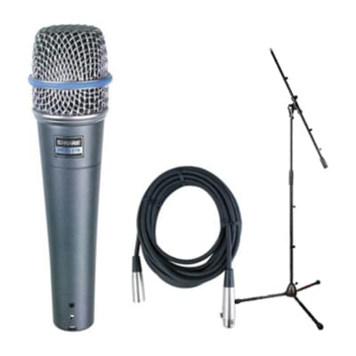 Shure Beta 57A Dynamic Vocal/Instrument Microphone Bundle with Stand