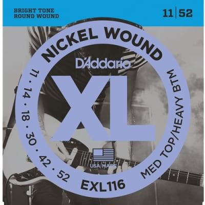 D'Addario EXL116 Nickel Wound Medium Top/Heavy Bottom Electric Strings, .011 - .052