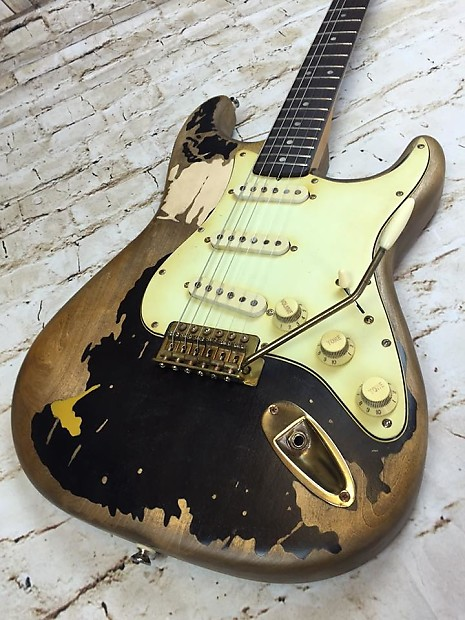 John Mayer BLACK1 Tribute Stratocaster Guitar Vintage Relic Custom Shop MADE TO ORDER