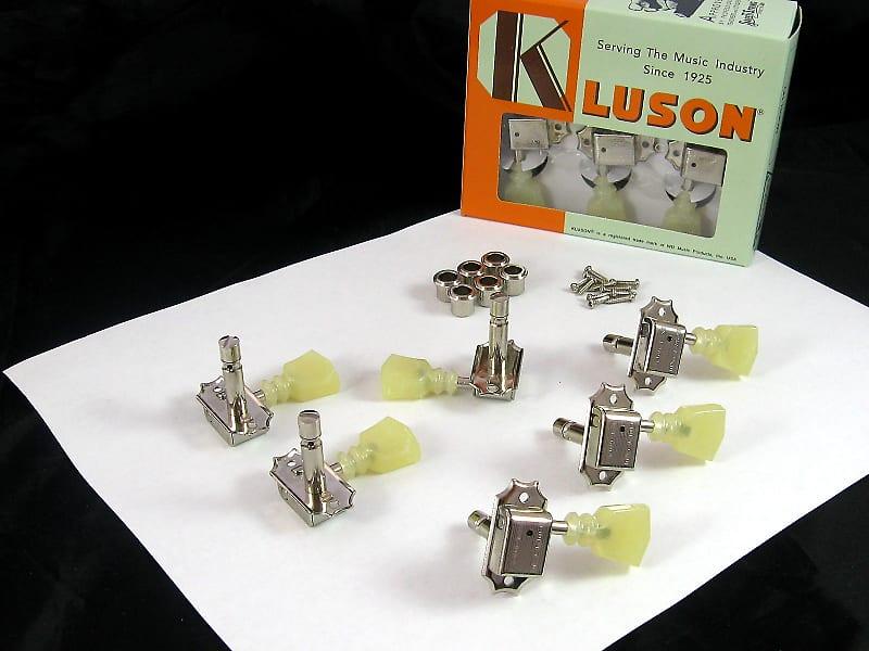 kluson sd90sln dr l 3x3 locking tuners double ring keystone reverb. Black Bedroom Furniture Sets. Home Design Ideas
