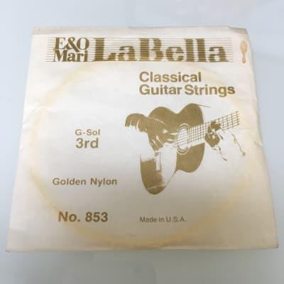 La Bella Vintage Classical Golden Nylon Guitar String no 853