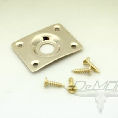 Gold Guitar Curved Jack Plate w/ screws