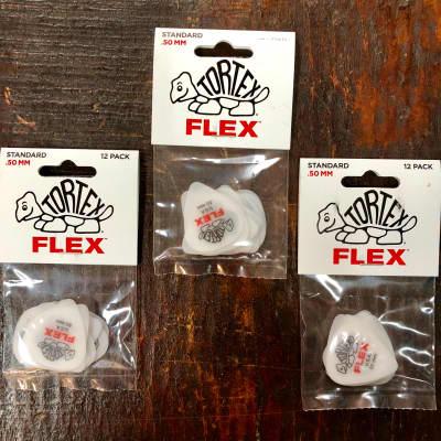 Dunlop Tortex Flex Standard 428P.50 .50mm 3 x 12 Pack Red