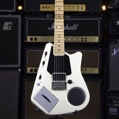 Casio Fujigen EG5 1984 white Guitar with a cassette player for sale