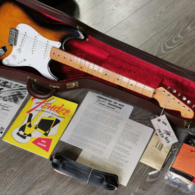 Fender Stratocaster 1954 Reissue 40th Anniversary 1994 with 2 Cases 1 Owner with Original Box for sale