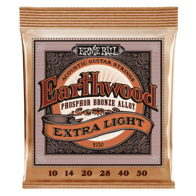 Ernie Ball Earthwood Extra Light Phosphor Bronze Acoustic Guitar Strings - 10-50 Gauge 2150