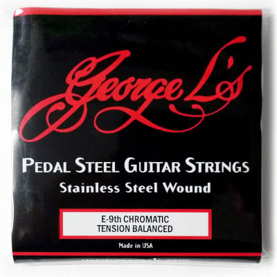 George L's Pedal Steel Stainless Steel Guitar Strings (E 9th Tension Balanced)