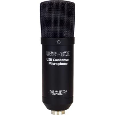 NADY - USB-1CX - USB Condenser Microphone - Black