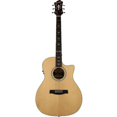Hagstrom Orsa Series Acoustic Guitar Grand Auditorium Natural w/ Pickup & Cutaway for sale