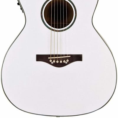 Daisy Rock DR6274 Wildwood Cutaway Acoustic Electric Guitar Pearl White for sale