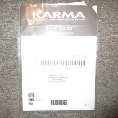 Used Korg Karma Workstation Basic Guide/Owner's Manual