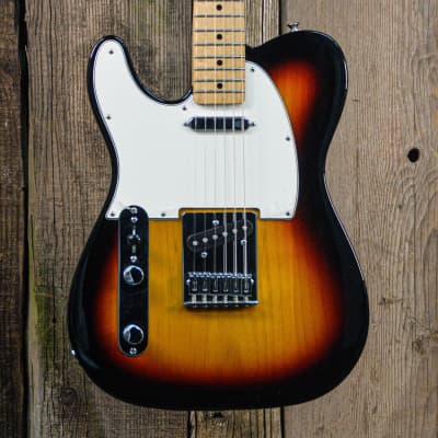 Fender Standard Telecaster Left-Handed with Maple Fretboard 3-Color Sunburst for sale